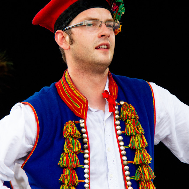 """""""Photographs of participants at theInternational Festival of Children and Youth Folk Groups. Krakow, Poland.2013"""" stock image"""
