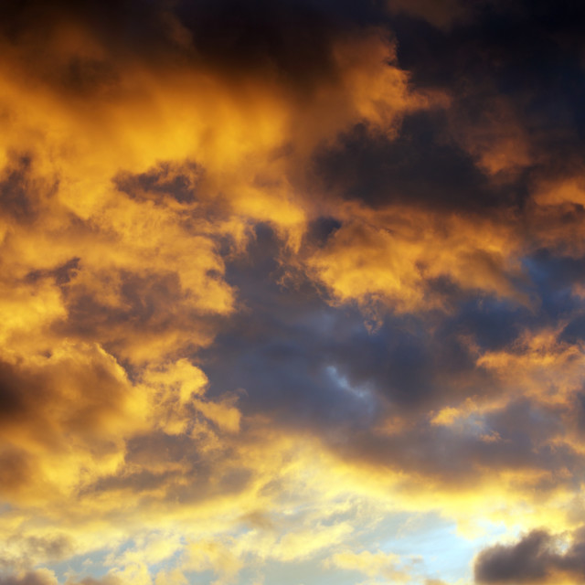 """""""Clouds at sunset"""" stock image"""