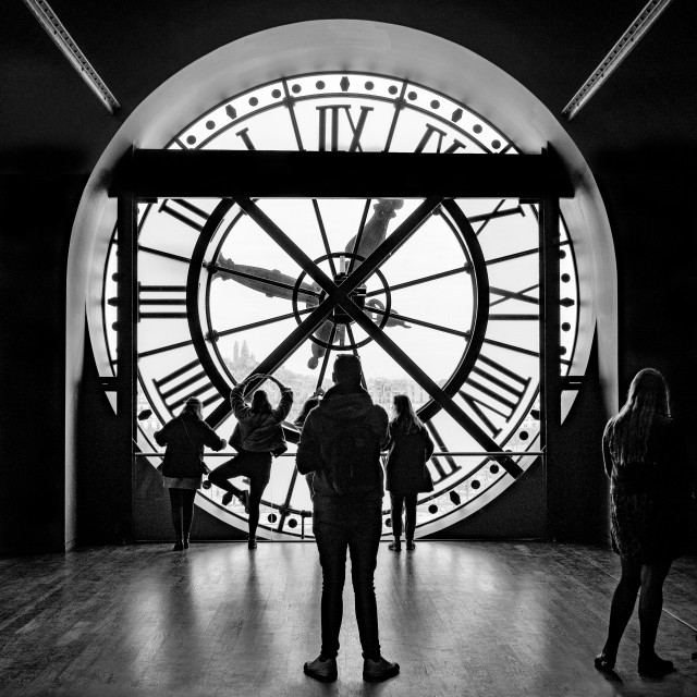 """""""The Station Clock, Musee d'Orsay, Paris"""" stock image"""
