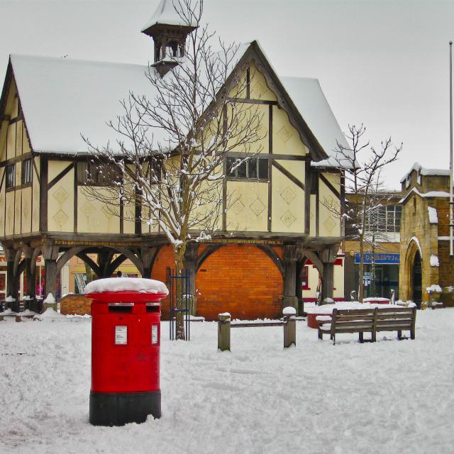"""The Old Grammar School Market Harborough"" stock image"