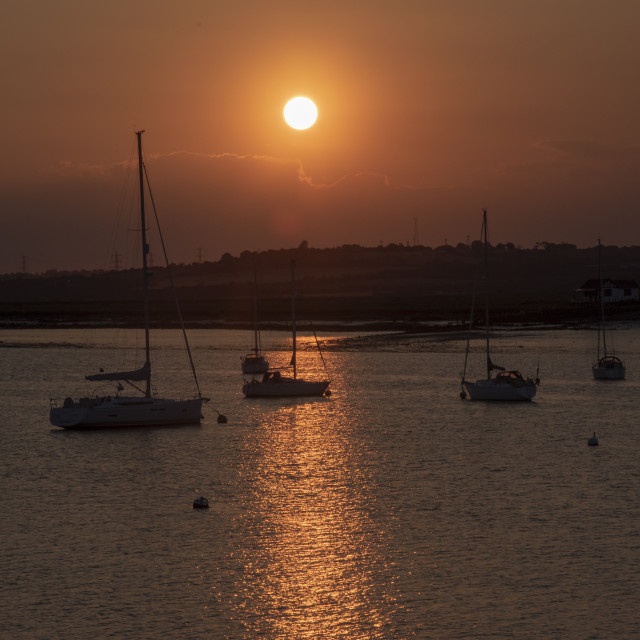 """Sunset View from South Fambridge"" stock image"