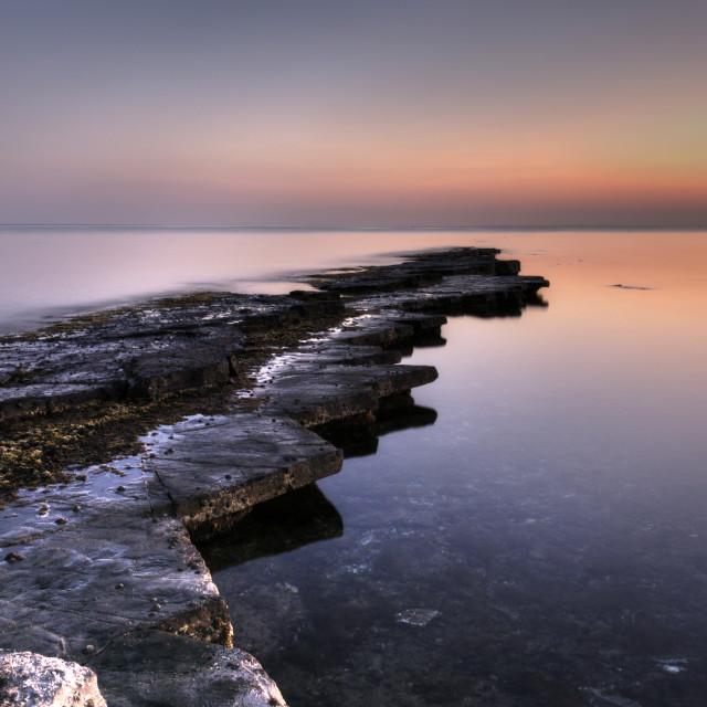 """""""Ledges, Kimmeridge Bay - Dorset"""" stock image"""