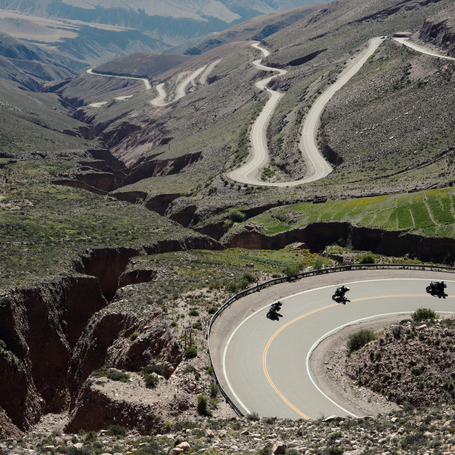"""""""Winding roads on the mountains in Argentina"""" stock image"""
