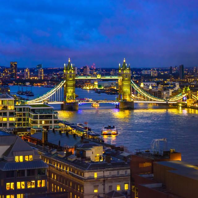 """Tower Bridge, London, UK"" stock image"