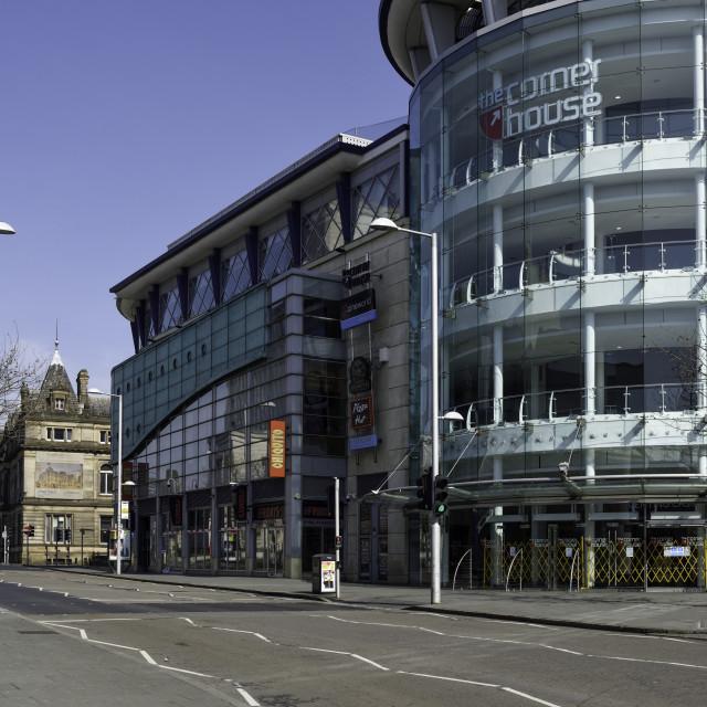 """Coronavirus Lockdown Empty Streets Nottingham,UK."" stock image"