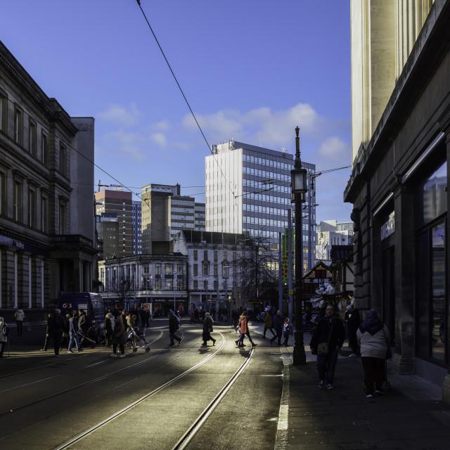 """Nottingham City Centre Skyline, UK."" stock image"
