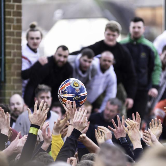 """Royal Shrovetide Football Ashbourne,UK."" stock image"