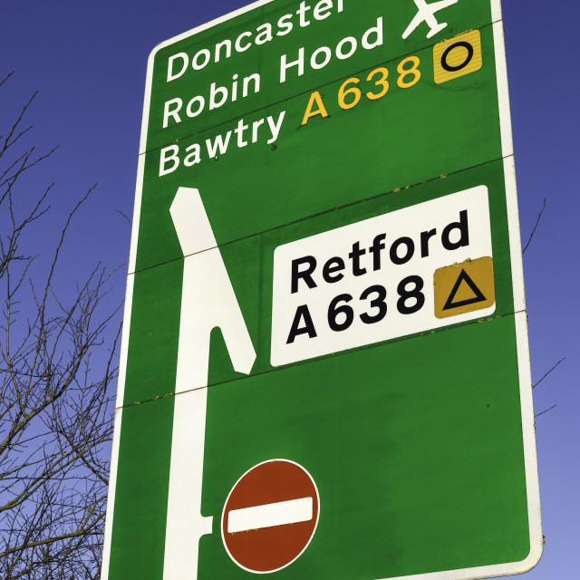 """A Road Retford and Doncaster,UK."" stock image"
