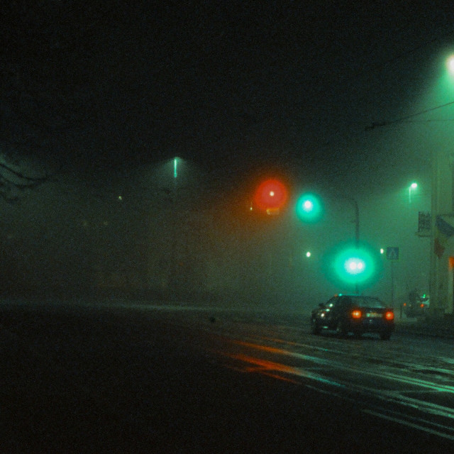 """At night"" stock image"