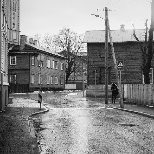 """Crossing In Tallinn"" stock image"