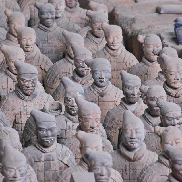 """Terracotta Warriors Close-up"" stock image"