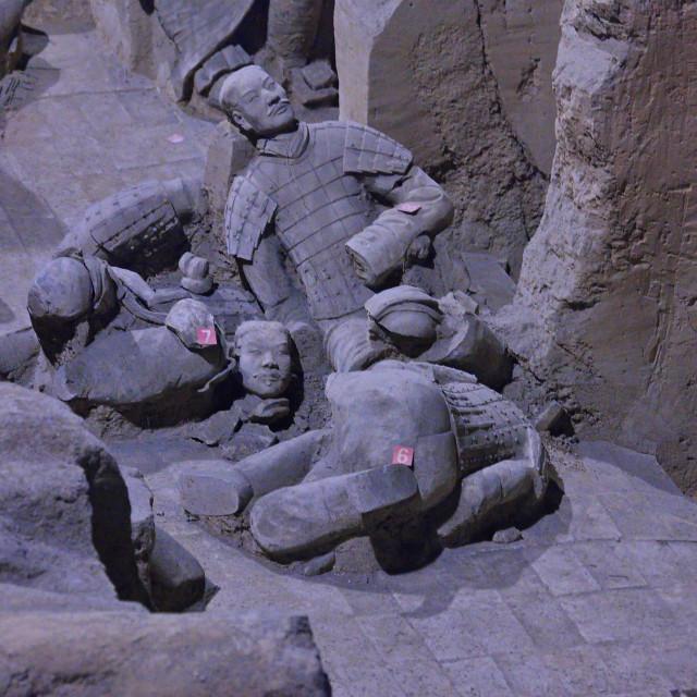 """Terracotta Warriors Before Restoration"" stock image"