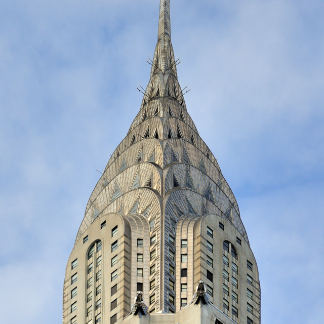 """""""Top of the Chrysler building"""" stock image"""