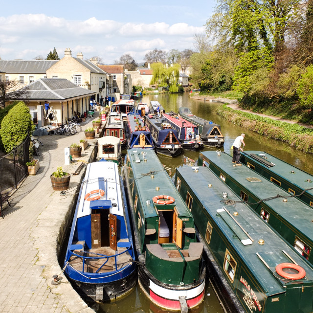 """""""Kennet & Avon Canal in the City of Bath, UK"""" stock image"""
