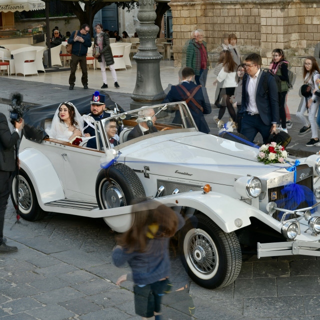 """Wedding street photo"" stock image"