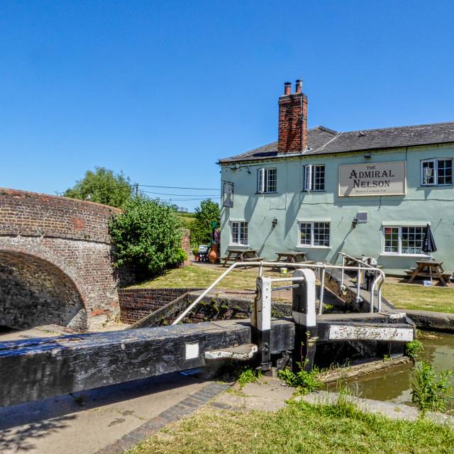 """The Admiral Nelson pub, Braunston, Northamptonshire"" stock image"