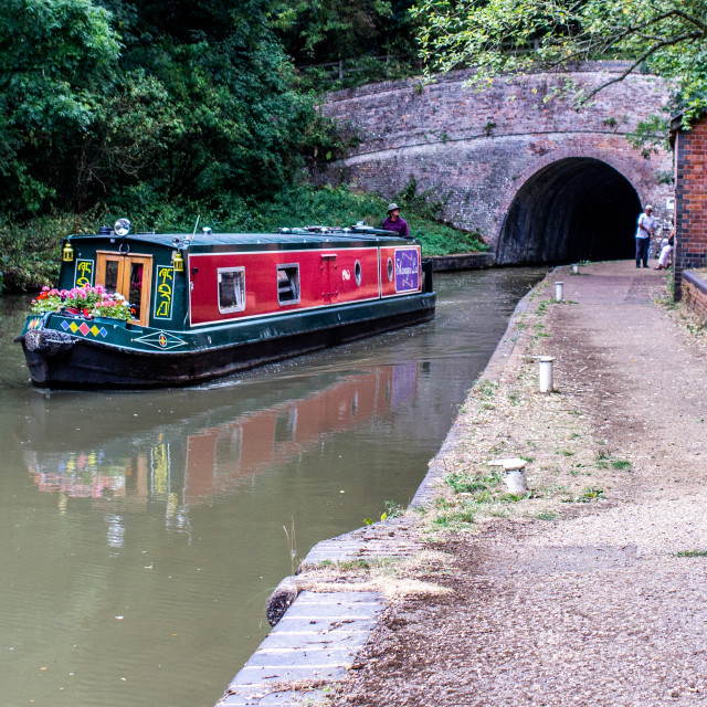 """""""Bruanston Tunnel on the Grand Union Canal, UK"""" stock image"""