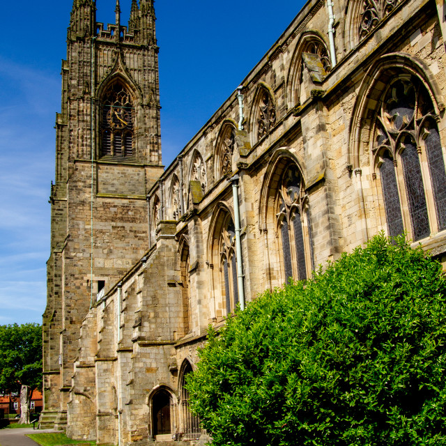 """Priory Church of St Mary, Bridlington."" stock image"