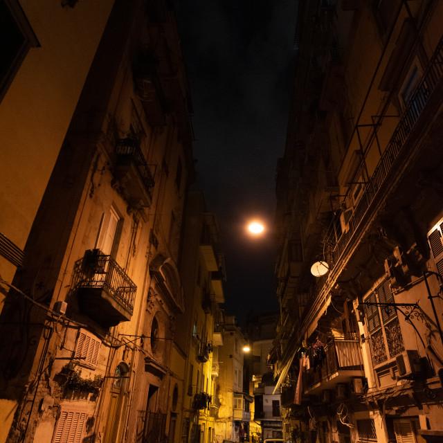 """Urban view of Naple's streets"" stock image"