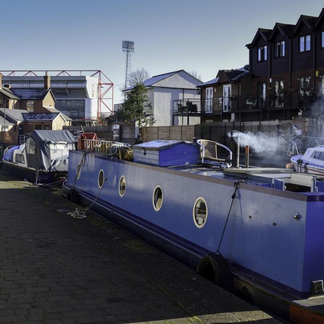 """""""Barge Nottingham Canal Nottingham,UK."""" stock image"""