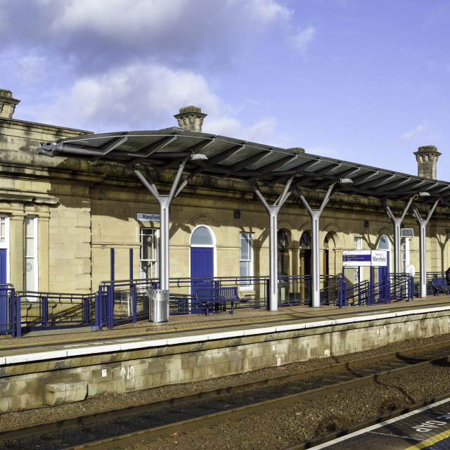 """Mansfield Train Station Nottinghamshire,UK."" stock image"