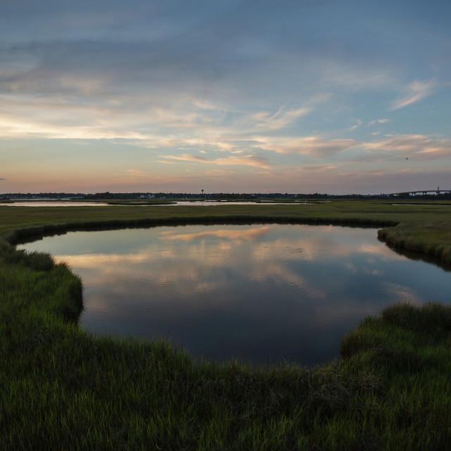 """""""Carolina Sunset"""" stock image"""