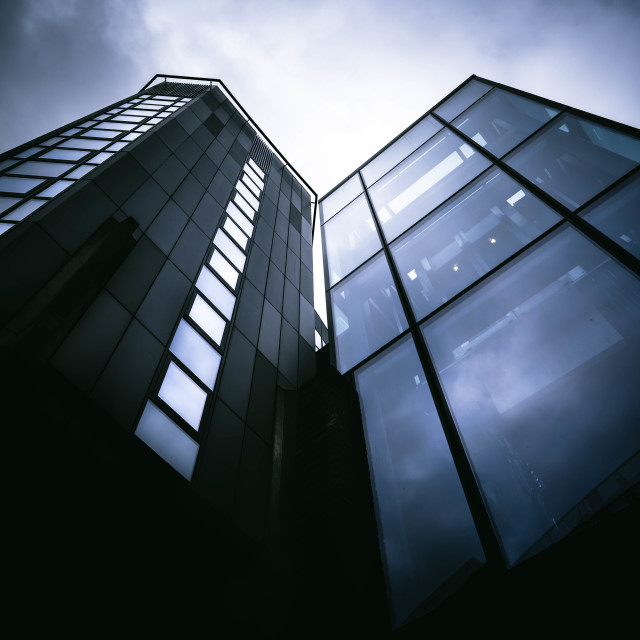 """""""High-rise, Cambridge Conservation Initiative Building."""" stock image"""