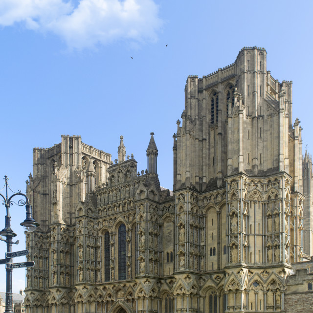 """""""Wells Cathedral."""" stock image"""