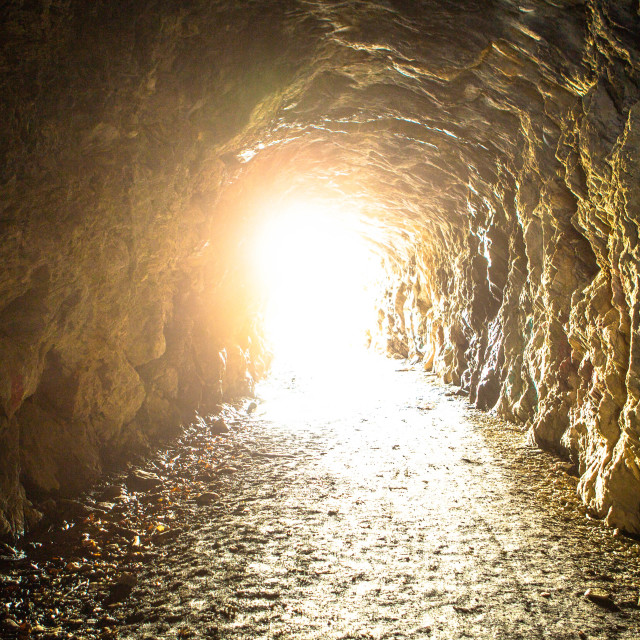 """""""Light at the End of a Tunnel"""" stock image"""