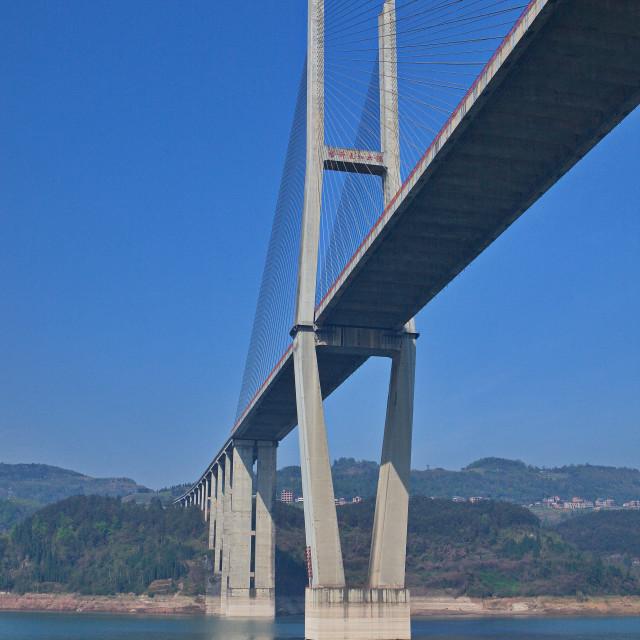 """Bridge Over the Yangtze"" stock image"