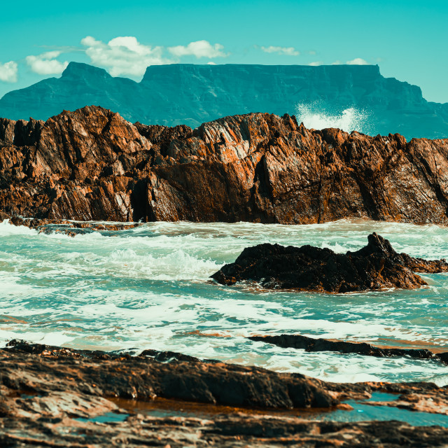"""""""Blouberg beach Table view"""" stock image"""