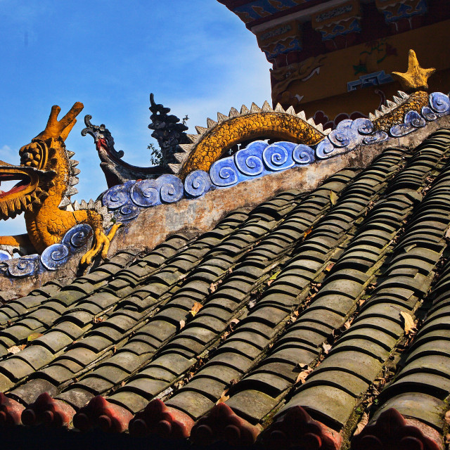 """Shibaozhai Roof Detail"" stock image"