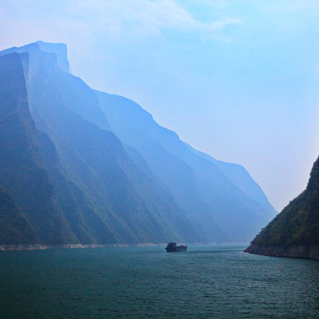 """""""The Three Gorges"""" stock image"""