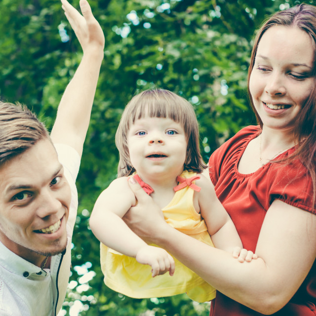 """Family having fun in summer"" stock image"