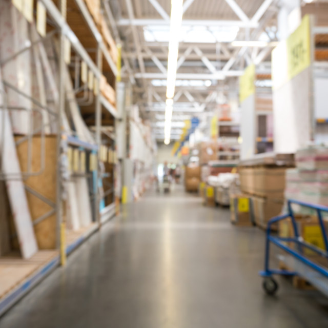 """""""abstract blur background of DIY store"""" stock image"""