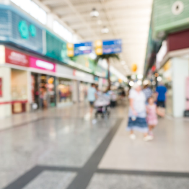 """""""Abstract blurred background of shopping mall hall"""" stock image"""