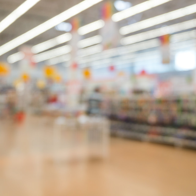 """""""Abstract blurred supermarket"""" stock image"""