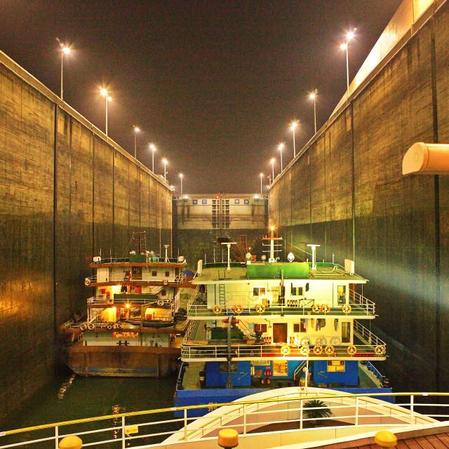 """Locks at Three Gorges Dam"" stock image"