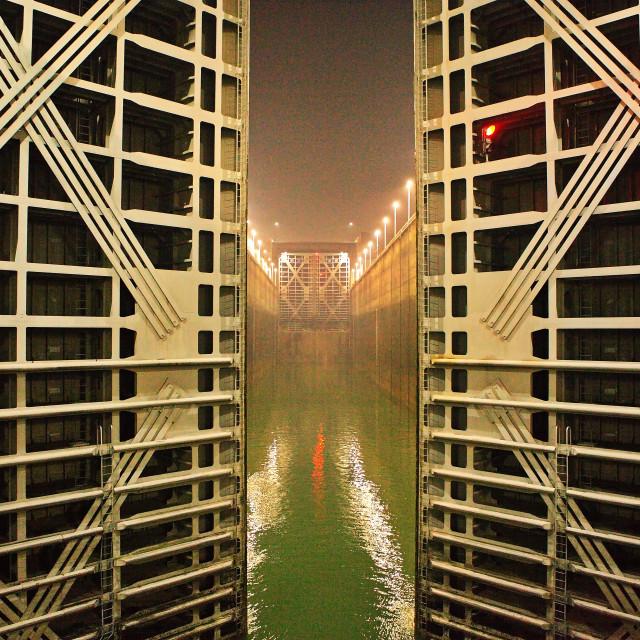 """Three Gorges Dam Locks"" stock image"
