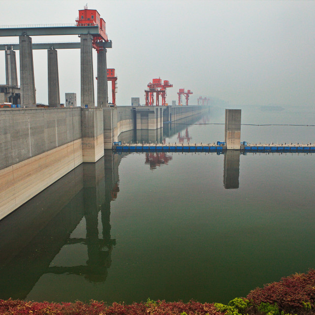 """Three Gorges Dam"" stock image"