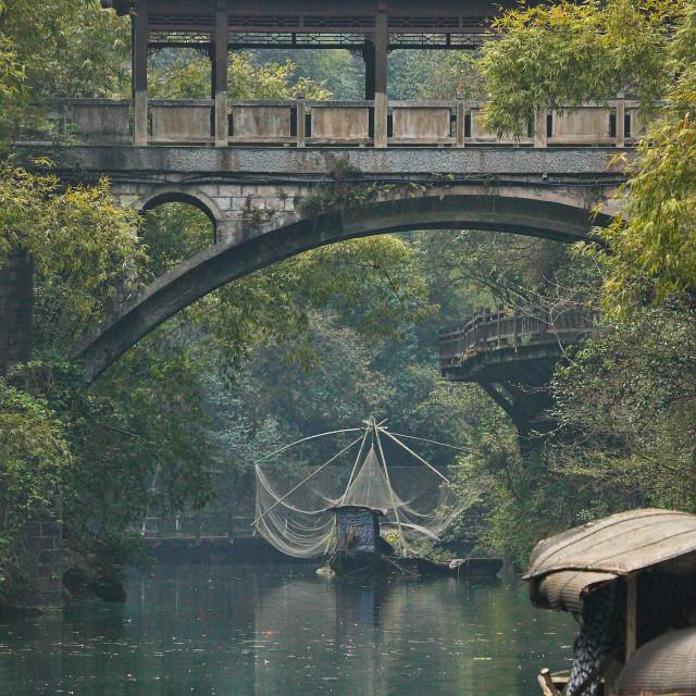 """Chinese Covered Bridge"" stock image"