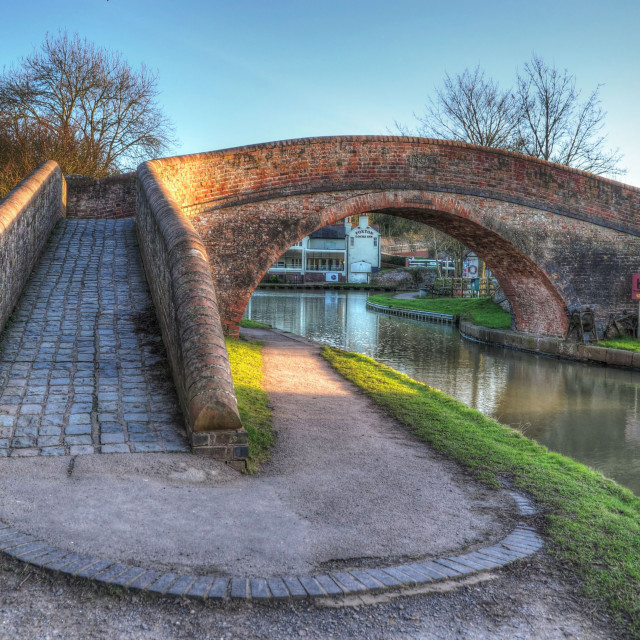 """""""Foxton Locks on the Grand Union Canal, Leicestershire, UK"""" stock image"""