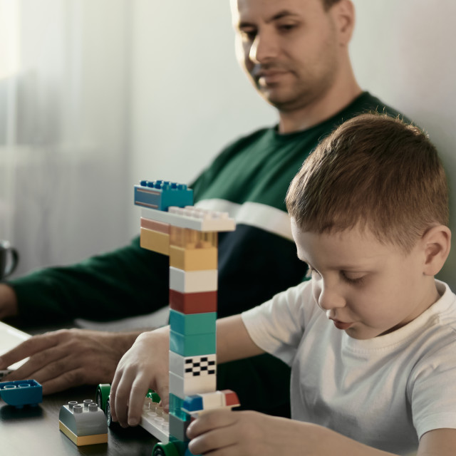 """""""Remote working among children concept"""" stock image"""
