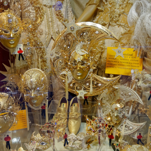 """Mardi Gras Masks - Venice"" stock image"