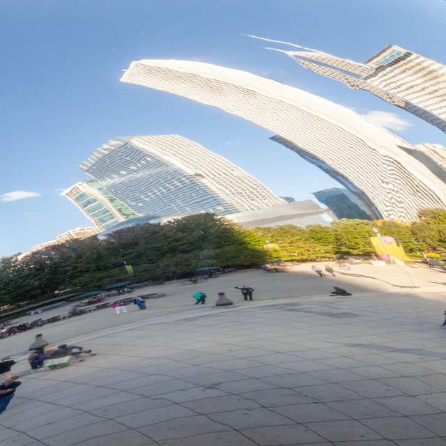 """""""Cloud Gate Reflections"""" stock image"""