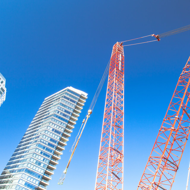 """Chicago Skyline Construction"" stock image"