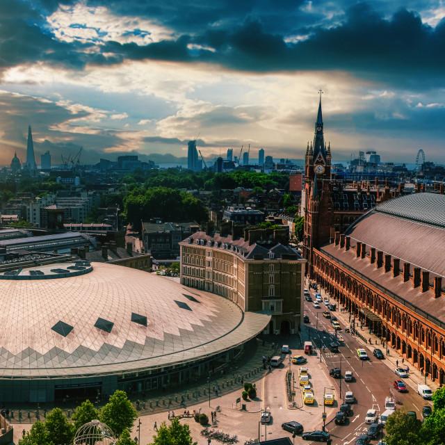 """Kings Cross / St Pancras Station"" stock image"