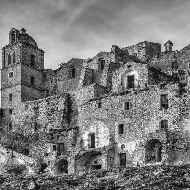 """""""The ghost town of Craco"""" stock image"""