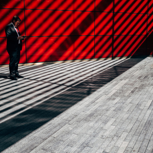 """Shadows and stripes"" stock image"