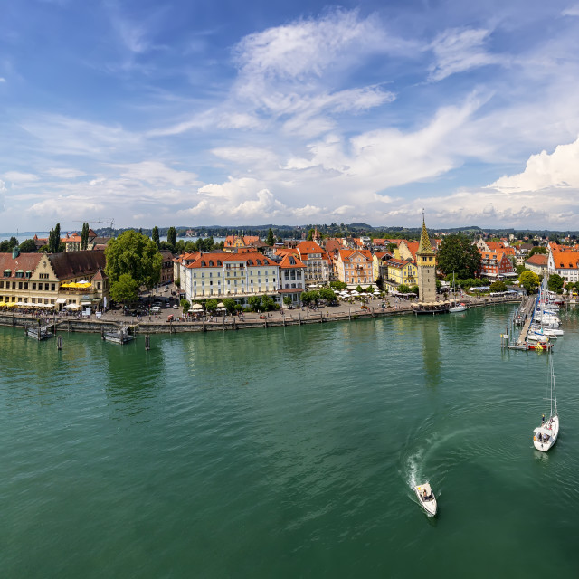 """""""Harbor on Lake Constance"""" stock image"""